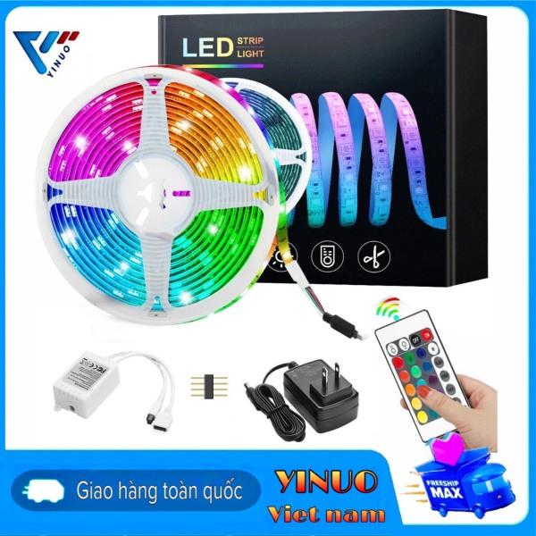 Bảng giá Bộ đèn Led dây dán 5m nhiều màu RGB remote 24 phím đèn led 7 màu trang trí trong nhà led 12v chớp nháy chuyển màu có điều khiển từ xa đèn led tiktok hot trend