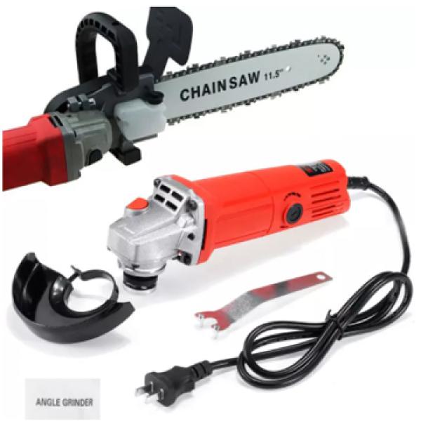 COMBO Lưỡi cưa xích + Máy mài SIÊU RẺ - Bộ lưỡi cưa xích gắn máy mài chain saw trục 10 mm - Lưỡi cưa xích gắn máy mài - Máy mài Aotuo