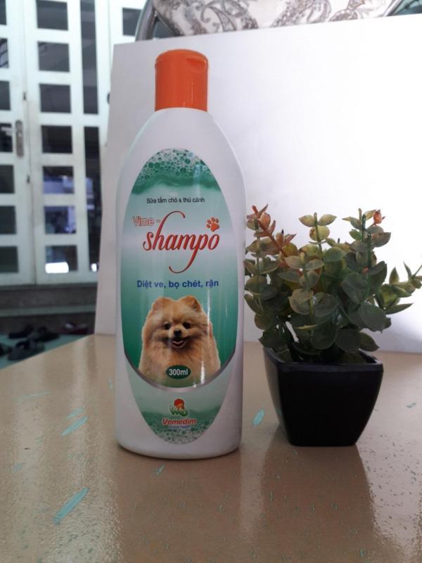 sữa tắm đặc trị ve rận bọ chét cho chó mèo Vime Shampo 300ml