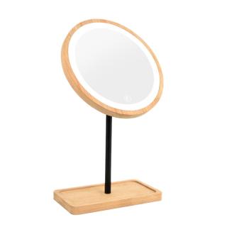 Wooden Desktop Mirror Beauty Mirrors 360 Celsius Rotating Cosmetic Mirror Women Vanity Mirror thumbnail
