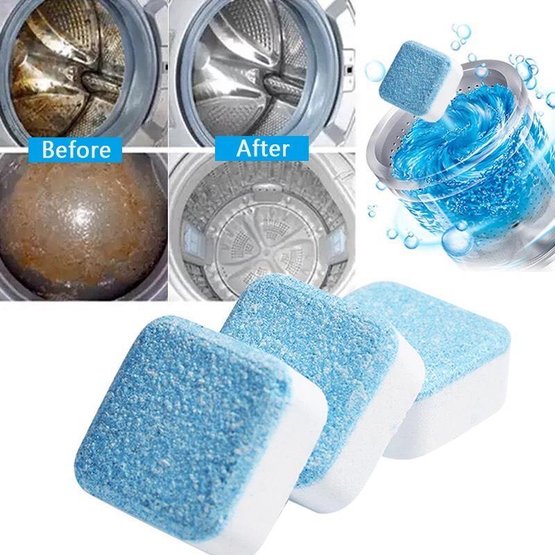 Giá Tiết Kiệm Khi Sở Hữu Hộp 12 Viên Tẩy Lồng Máy Giặt Diệt Khuẩn, Loại Bỏ Chất Cặn Trong Lồng Máy