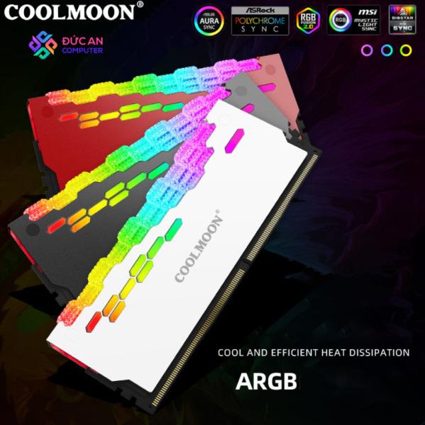 Tản Nhiệt Ram Led RGB Coolmoon RA-2 Diamond - Hỗ Trợ Đồng Bộ Hub Coolmoon và Mainboard