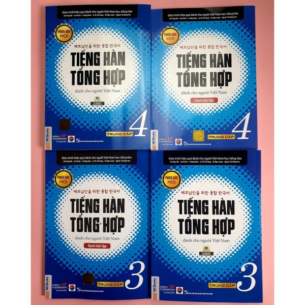 Sách - Combo Trọn Bộ Giáo Trình Tiếng Hàn Tổng Hợp Dành Cho Người Việt Nam Trung Cấp 3 & 4 ( SGK + SBT, Lẻ Tùy Chọn ) - Sách  Bài Tập 3
