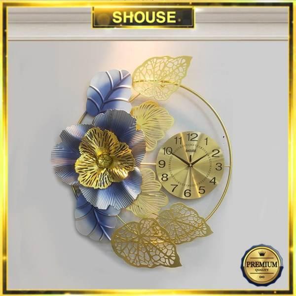 Đồng Hồ Treo Tường Trang Trí Nghệ thuật Kim Trôi Hình Bông Hoa DC225 Nghệ Thuật Cao Cấp Shouse hiện đại 3D kích cỡ lớn đẹp treo phòng khách bán chạy