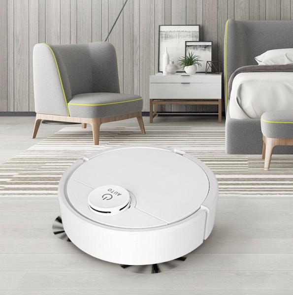 Máy Hút Bụi, Robot Hút Bụi Lau Nhà, ES300 - Gubemart - Máy Hút Bụi Thông Minh, Robot Lau Nhà - Làm Sạch Các Vị Trí Khó: Gầm Giường,Tủ,Gầm Ghế Sofa. Di Chuyển Làm Sạch Thông Minh, Độ Ồn Thấp
