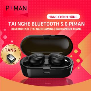 Piman Tai nghe bluetooth 5.0 giải trí gaming không dây có mic pin siêu trâu- Tai phone bluetooth nhét tai tương thích mọi loại máy và các hệ điều hành. thumbnail