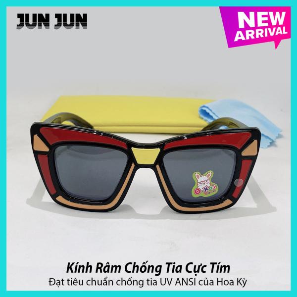 Giá bán Kính mát cao cấp chống tia UV dành cho bé trai siêu dễ thương JJ1891 - Kính râm thời trang cho trẻ từ 1 tới 6 tuổi - Tặng kèm túi đựng + Khăn lau