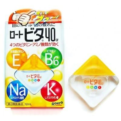 Nước nhỏ mắt Rohto Vita 40 Nhật Bản màu vàng 12ml/chai