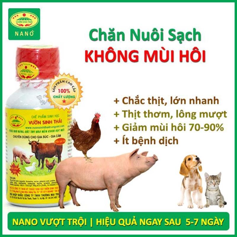 Chế phẩm sinh học Chăn Nuôi không mùi hôi. Vỗ béo, tăng trọng nhanh. Dinh dưỡng bổ sung cho gia súc, gia cầm và thú cưng. Hiệu quả ngay sau 5 - 7 bữa ăn