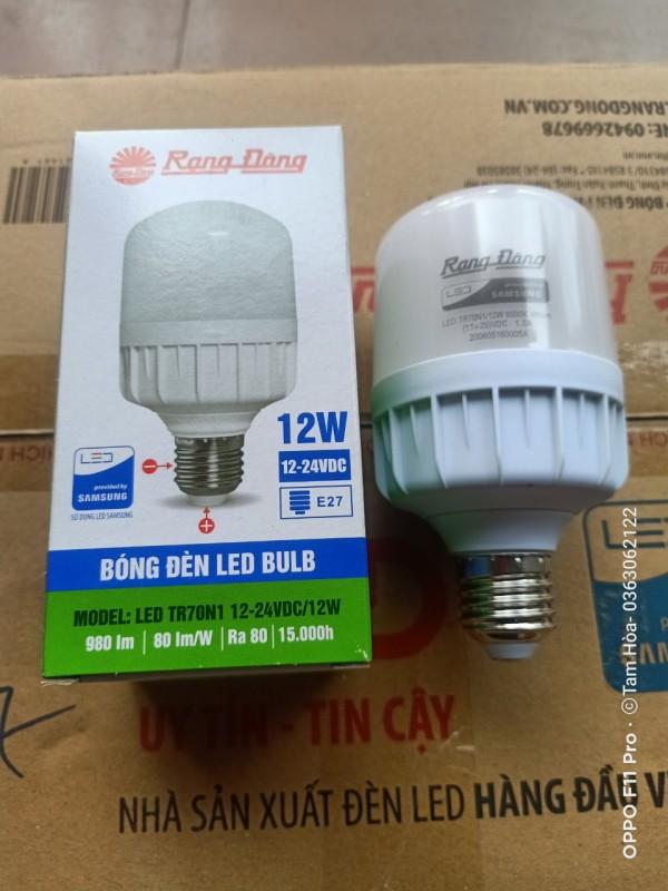 Bóng đèn led trụ 12W Rạng Đông dùng điện 12V-24VDC
