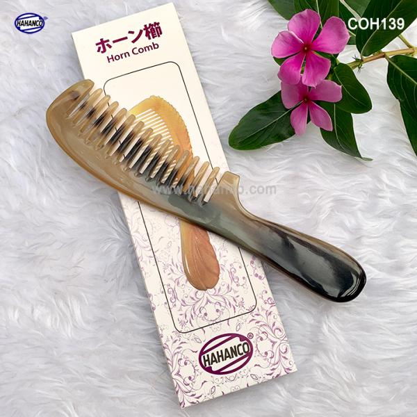 Lược sừng răng thưa xuất nhật (Size: L - 20cm) ❤️FREESHIP❤️ Chải tóc xoăn, xù /HAHANCO (COH139)