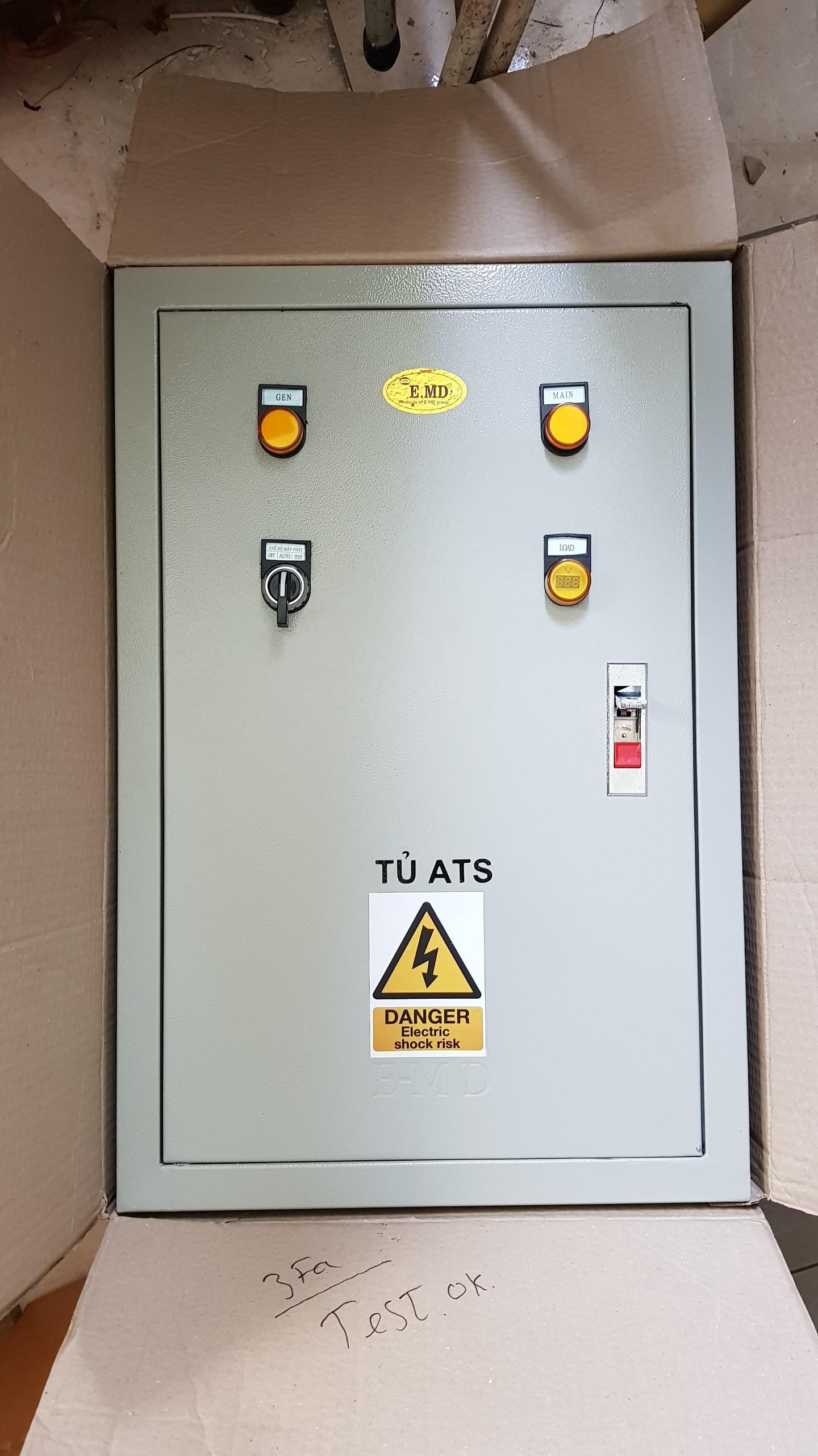 Giá Tủ ATS tự động chuyển nguồn và tự động đề nổ máy phát điện