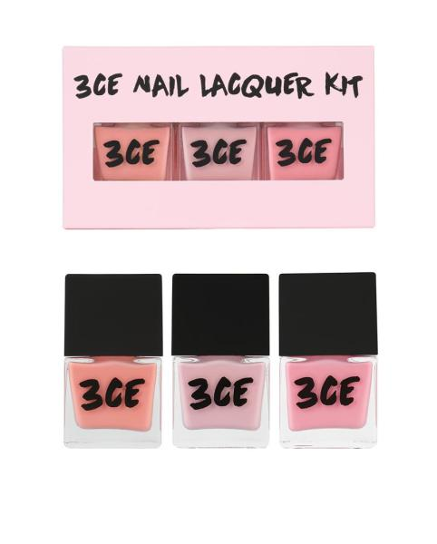 Set sơn móng tay 3CE PINK RUMOUR NAIL LACQUER KIT tốt nhất