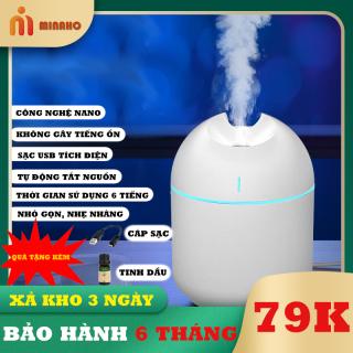 [XẢ KHO 3 NGÀY] Máy xông tinh dầu Minaho - TẶNG KÈM sạc USB 25k và tinh dầu 35k - Tích điện, phun sương, giữ ẩm, đuổi muỗi, tất cả trong một sản phẩm mini nhỏ gọn, tiện lợi thumbnail