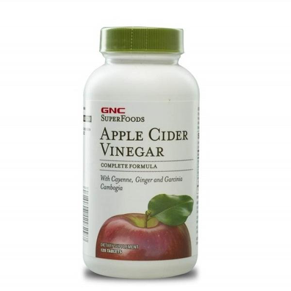GNC Super Foods Apple Cider Vinegar 120 viên - Thực Phẩm Chức Năng Hỗ Trợ Giảm Cân