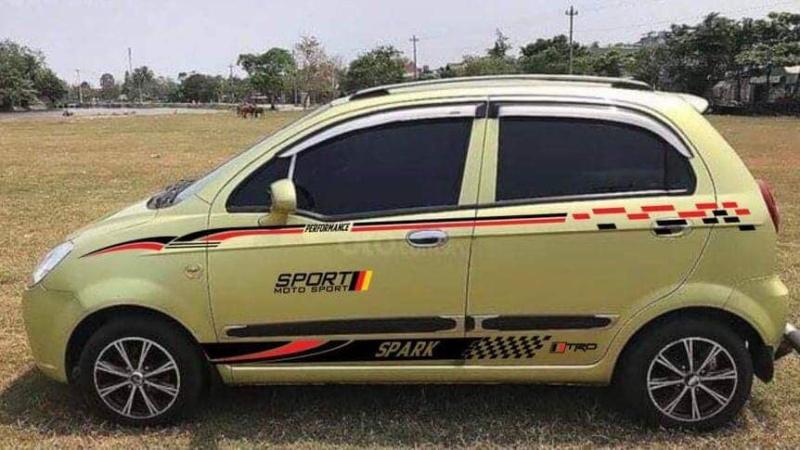 Tem Dán Xe Matiz Spark Xanh Sport 911