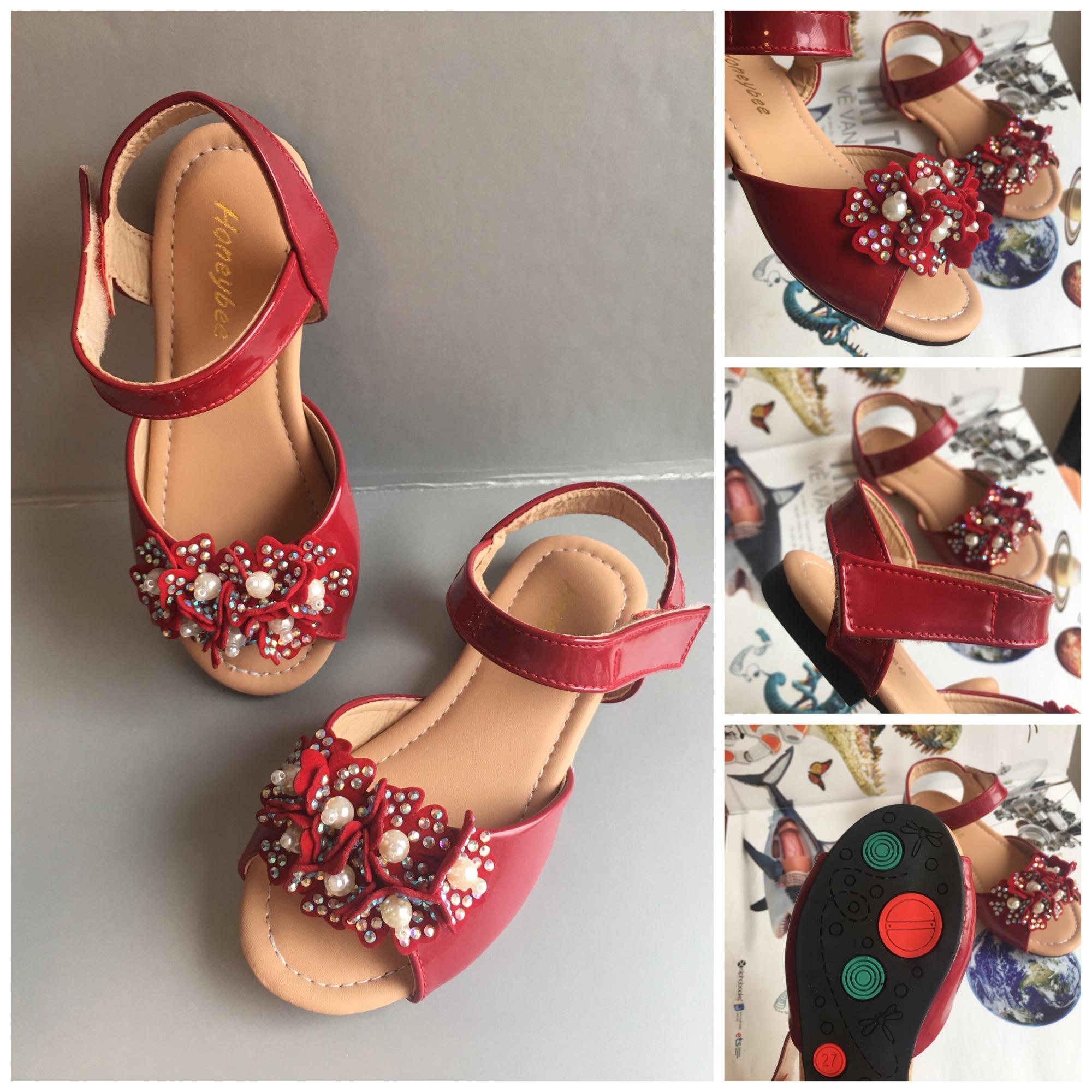 Giá bán Dép sandal cho bé gái 00321 sz26-30 màu đỏ