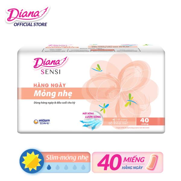Băng vệ sinh Diana hàng ngày Sensi Slim mỏng nhẹ gói 40 miếng giá rẻ