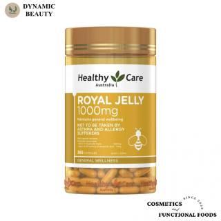 Viên uống sữa ong chúa Healthy care royal jelly 1000mg 365 viên của Úc thumbnail