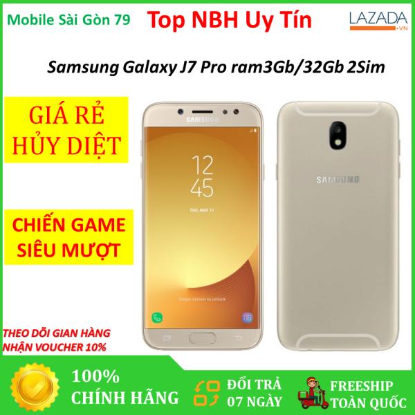 Giá siêu tốt - [BÁN LẺ = GIÁ SỈ] Điện thoại Samsung Galaxy J7 Pro 2sim ram 3G Bộ nhớ 32G CHÍNH HÃNG mới - Bảo hành uy tín