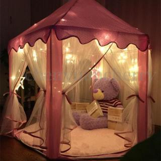 Lều Cho Bé Lều Công Chúa Hình Lục Giác Cho Bé Kiểu Dáng Hàn Quốc - Lều cắm trại cho bé vui chơi thumbnail