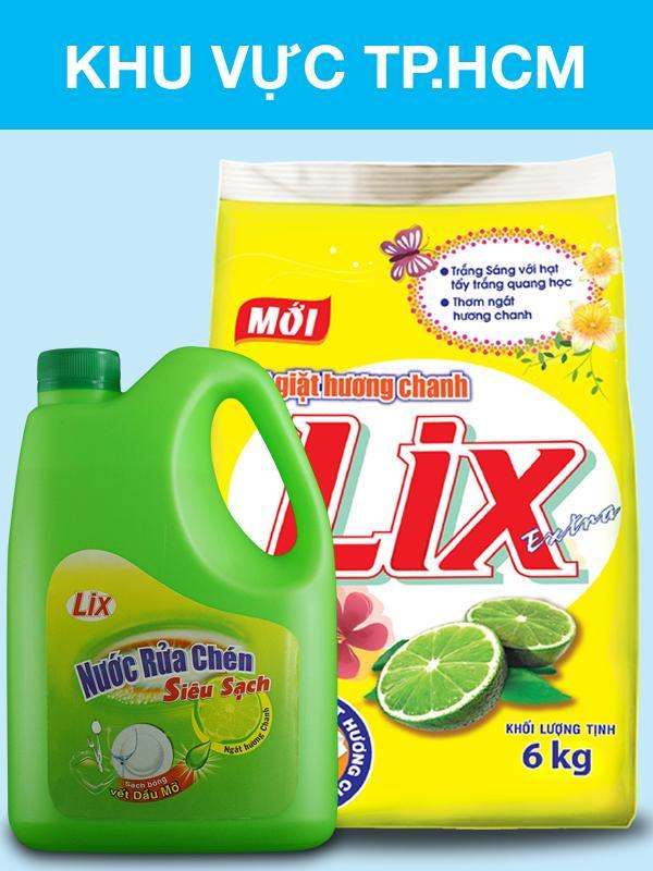 Bột Giặt Lix Extra Hương Chanh 6kg KM NRC 1,5kg Chanh Siêu Tiết Kiệm