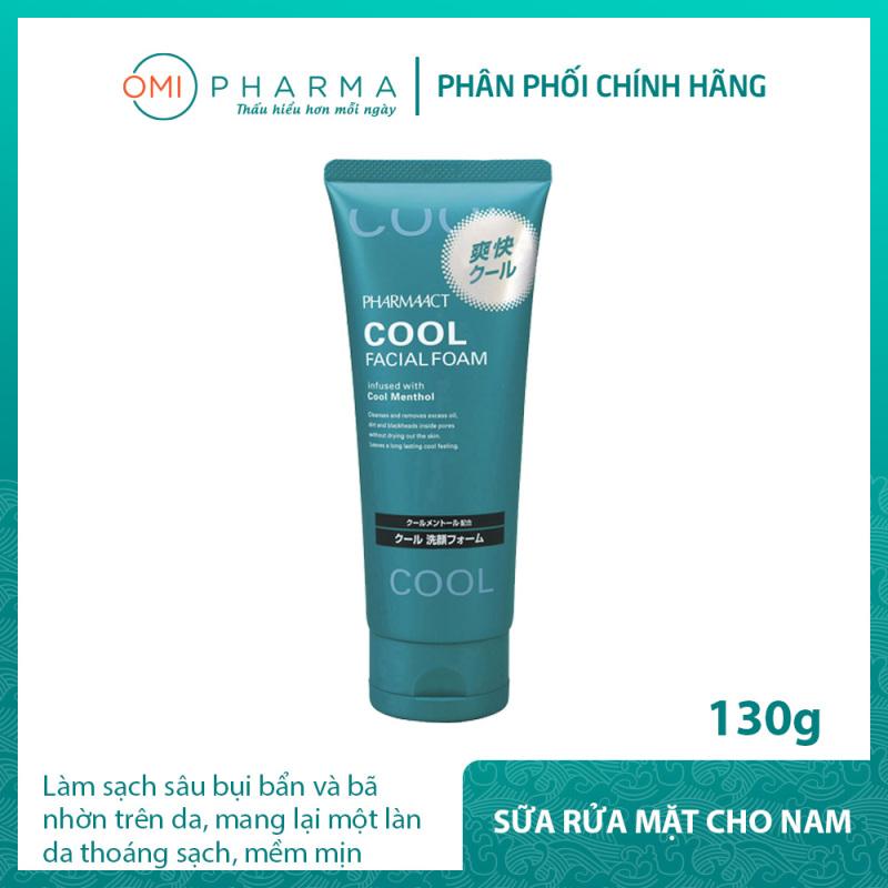 Sữa rửa mặt bạc hà mát lạnh cho nam giới Pharmaact Cool Facial Foam (130g) giá rẻ