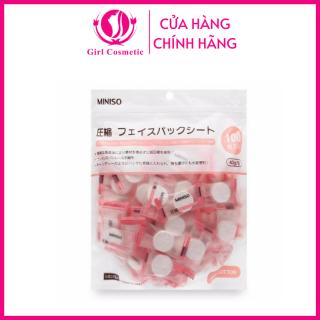 Mặt nạ - Mặt nạ giấy nén Miniso Nhật Bản kết hợp với nguyên liệu đắp mặt tự làm hoặc nước hoa hồng đắp mặt nạ dưỡng da tiện lợi thumbnail