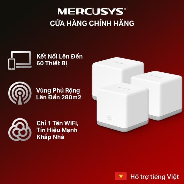 Bảng giá [300m2 bao trọn ngôi nhà] Hệ Thống Mesh Wifi MERCUSYS Halo S3 (3-pack) Chuẩn N 300Mbps - Hãng phân phối chính thức Phong Vũ