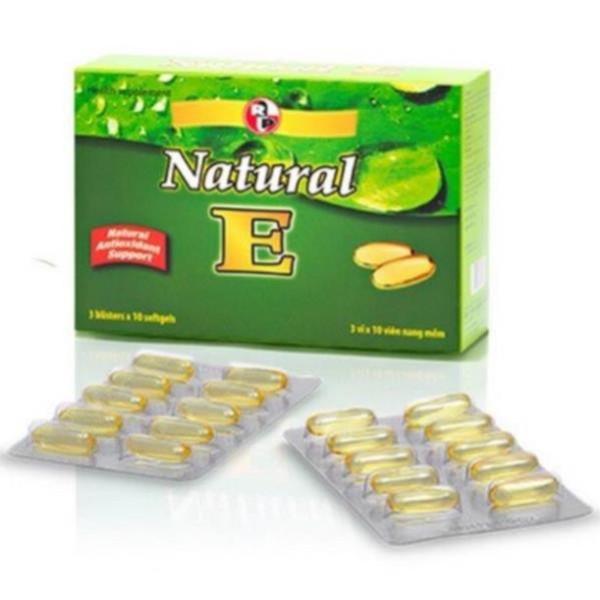 Chống lão hóa, chống oxi hóa ,làm đẹp da NATURAL E 400_Robinson Pharma USA Hộp 30 viên. giá rẻ