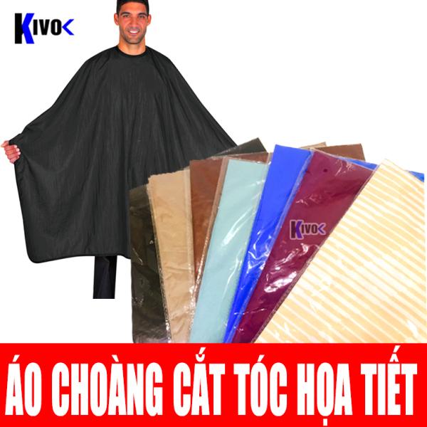 Vải Choàng Cắt Tóc Nam Nữ - Cạo Râu / Nhuộm Tóc Họa Tiết - Áo Choàng Cắt Tóc, Khăn Choàng Cắt Tóc Dùng Cho Salon Barber - Kivo