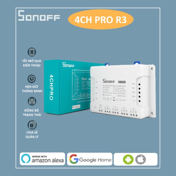 Công tắc thông minh SONOFF 4CH PRO R3 điều khiển từ xa qua WiFi và RF 4 kênh