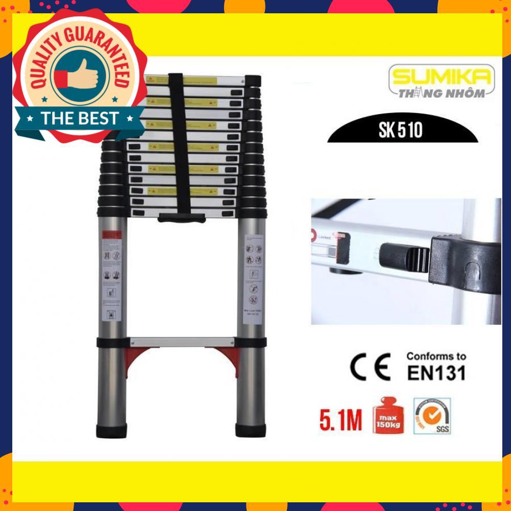 Thang nhôm rút gọn Sumika 5.1m SK510 - Màu đen