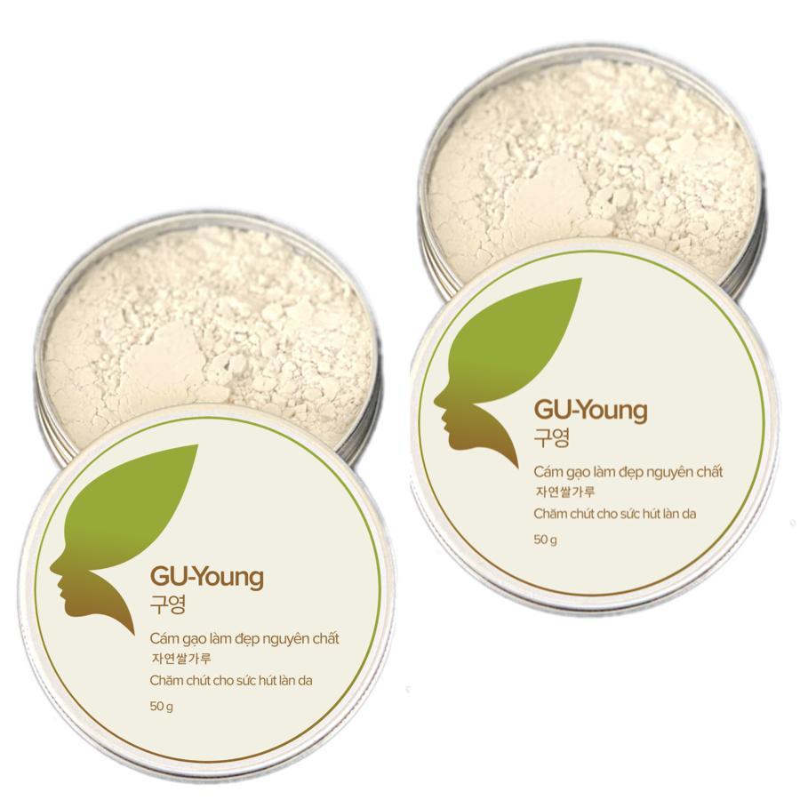 Combo 2 hộp cám gạo làm đẹp GU-Young - Chăm chút cho sức hút làn da (hộp 50g)