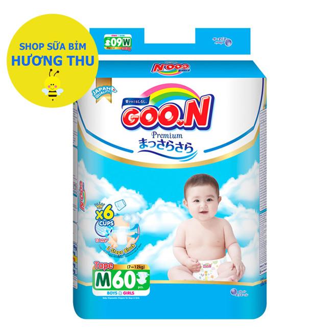 Voucher Ưu Đãi Tã/bỉm Dán Goon Premium Size M 60 Miếng (cho Bé 7- 12 Kg)