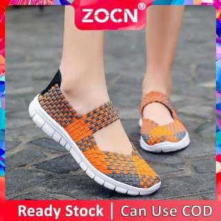 Giày Đế Bằng Nữ ZOCN Giày Dệt Thời Trang Cá Tính Giày Tiện Dụng Nhẹ Thoải Mái Cỡ Lớn 35-42