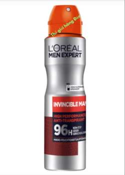 Xịt khử mùi cho nam L'oreal Men Expert Invincible Man 96h 150ml