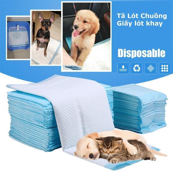 HCM -(Lẻ 10 miếng) Miếng tã lót khay vệ sinh chó / tã lót chuồng chó / giấy lót chuồng chó mèo / tã giấy lót chuồng chó, lót sàn xe/ giấy vệ sinh chuột hamster