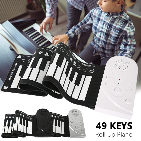 Bàn Phím Đàn Piano Điện Tử 49 Phím, Gấp Được, Dễ Di Chuyển