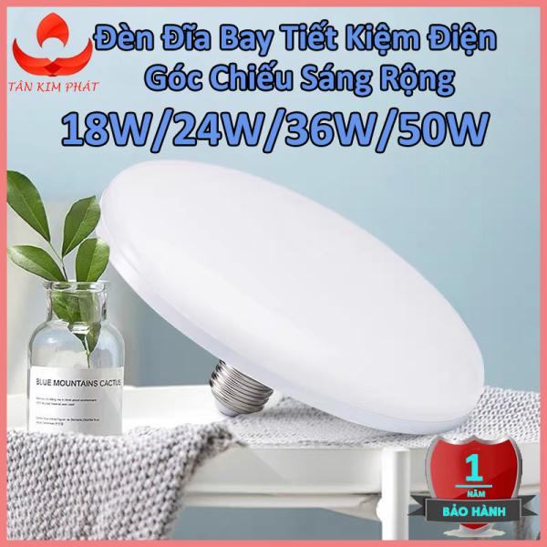 Bảng giá Bóng đèn led tròn hình đĩa bay tiết kiệm điện công suất cao 18W-24W-36W-50W, đuôi vít xoắn E27, tuổi thọ cao, ánh sáng trắng không gây chói mắt, không nhấp nháy, tiện dụng cho nhiều không gian nhà ở, văn phòng-DDB