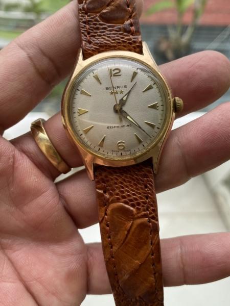 đồng hồ nam Benrus 3 sao cổ