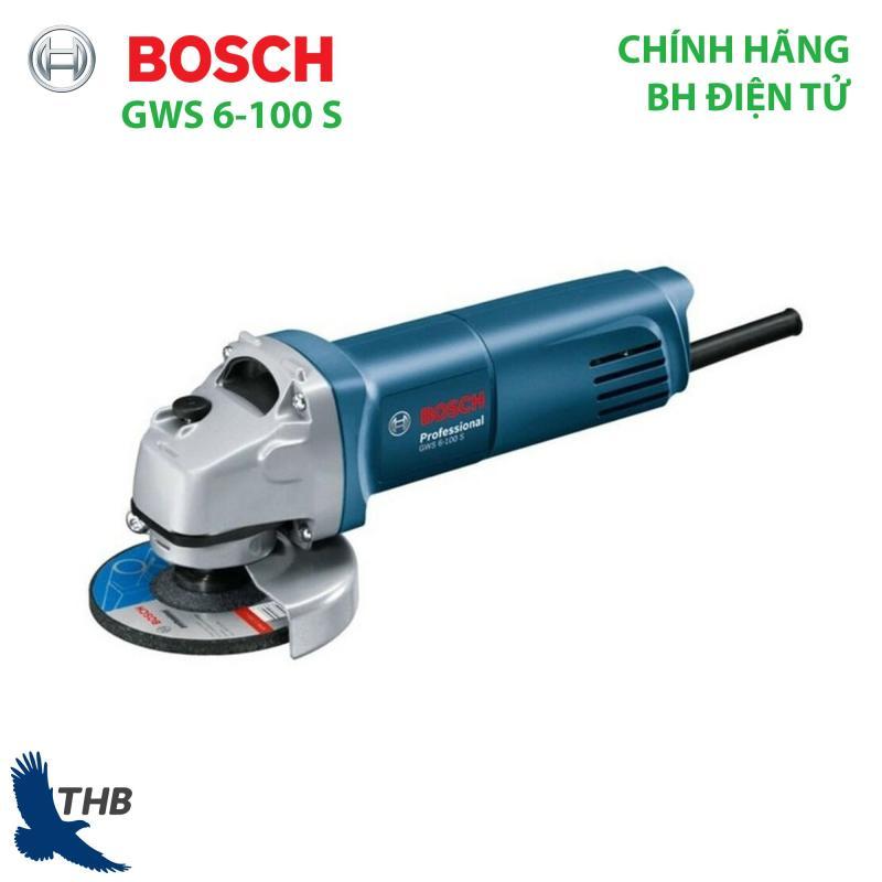 Máy mài điện cầm tay Máy mài góc nhỏ Bosch GWS 6-100 S Công tắc đuôi Công suất 600W đá mài 100