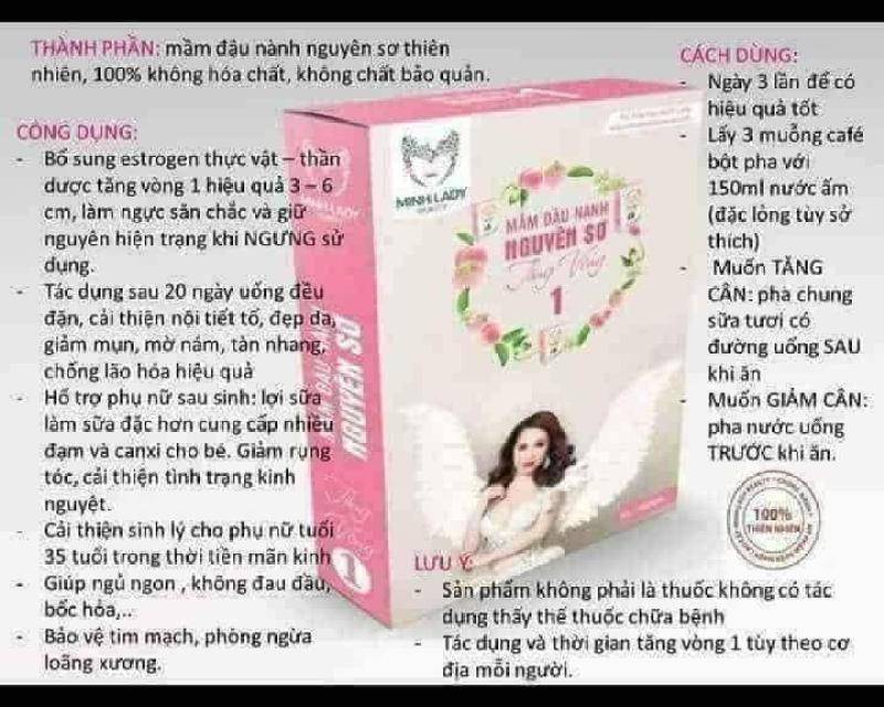 Mầm Đậu Nành-Tăng Vòng 1 -Minh Lady Beauty cao cấp