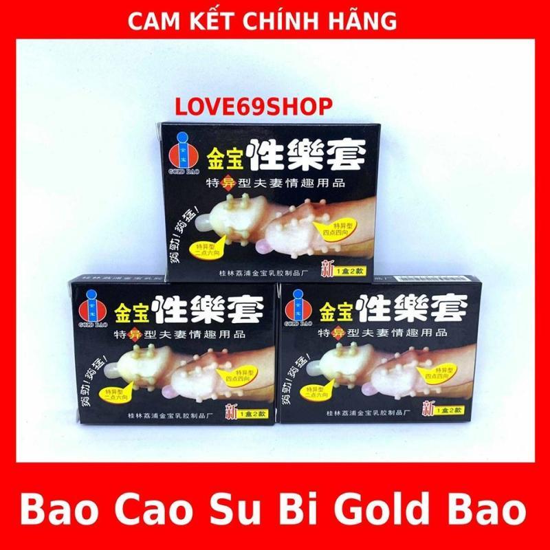 BAO CAO SU GOLD BAO BI (bộ 3hop/6bao) -16 bi chạy dọc thân bao cao cấp