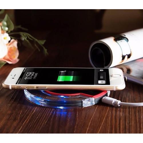 LOẠI TỐT KO HƯ PIN - Đế sạc không dây - Sạc nhanh không dây - Đế sạc không dây cho điện thoại samsung, iphone