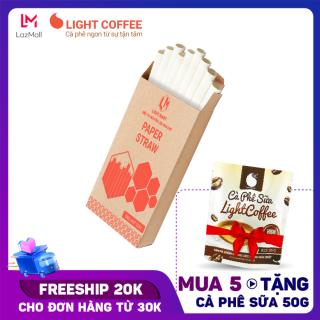 [MUA 5 TẶNG CÀ PHÊ SỮA] Ống hút giấy Hộp nhỏ hút trân châu - Size 12x197mm (9 ống hộp) - Light Coffee thumbnail