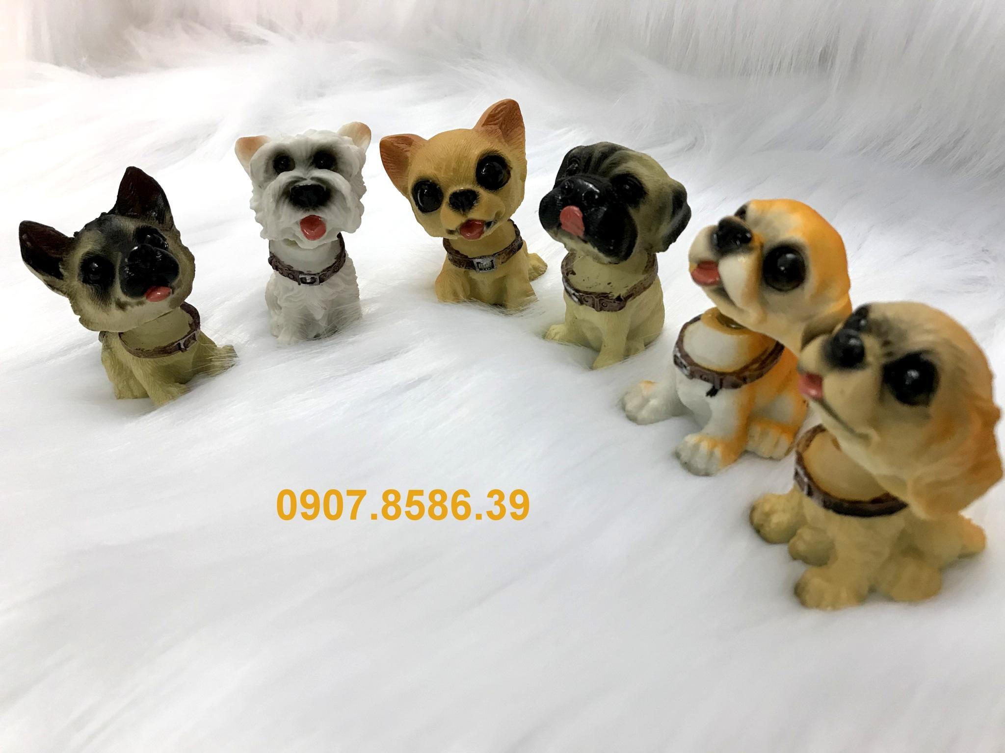 Mua Bộ 6 tượng Chó đáng yêu