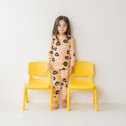 Giá bán Đồ bộ mặc nhà bé gái Unifriend thun dài hoạ tiết trái tim nhí U8FWTD36