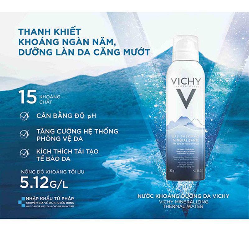 XỊT KHOÁNG VICHY MINERALIZING THERMAL WATER (150ML) cao cấp