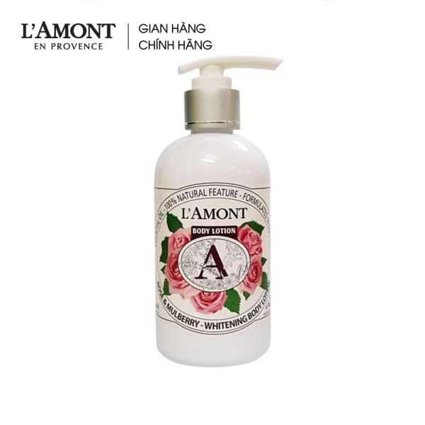 Sữa dưỡng thể Rose & Mulbery Whitening Body Lotion (hương hoa hồng) 250ml - Lamont En Provence giá rẻ